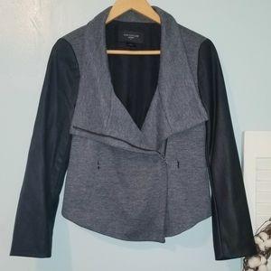 Black & Gray Moto Jacket